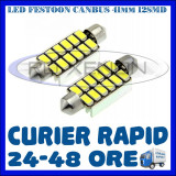 BEC AUTO LED LEDURI SOFIT FESTOON C5W C10W 41 mm 12 SMD 5730 CANBUS FARA EROARE - Led auto ZDM, Universal