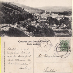 Vatra Dornei (Bucovina, Suceava)- Vedere generala - rara - Carte Postala Bucovina 1904-1918, Circulata, Printata