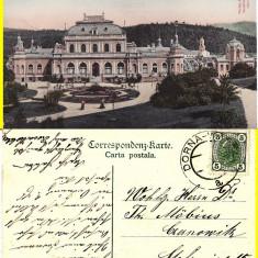 Vatra Dornei (Bucovina, Suceava)- Vedere generala-rara - Carte Postala Bucovina 1904-1918, Circulata, Printata