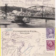 Vatra Dornei (Bucovina, Suceava)- Podul -rara - Carte Postala Bucovina 1904-1918, Circulata, Printata