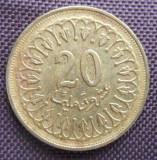 TUNISIA 20 MILIM 1997 km307.1 NONMAGNETIC, Africa, Nichel