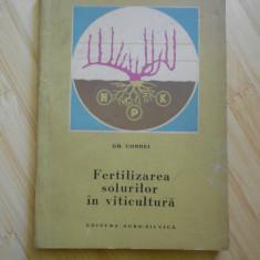 GH. CONDEI--FERTILIZAREA SOLURILOR IN VITICULTURA - Carti Agronomie