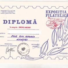 Bnk fil Diploma Expo fil 75 ani zbor A Vlaicu in Lugoj 1987