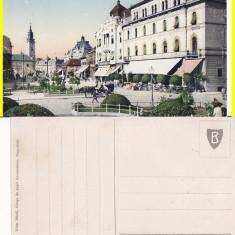 Oradea -animata - Carte Postala Crisana pana la 1904, Circulata, Printata