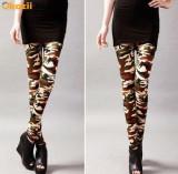 Colanti pantaloni stretch dama stil army camuflaj