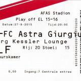 Bilet meci fotbal AZ ALKMAAR - ASTRA GIURGIU 27.08.2015 Europa League