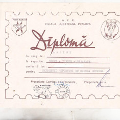 Bnk fil Diploma Expozitia filatelica Sport+Turism=Sanatate Busteni 1986