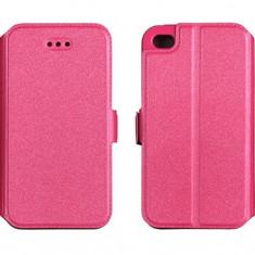 Husa iPhone 4 4S Flip Case Inchidere Magnetica Pink - Husa Telefon Apple, Roz, Piele Ecologica, Cu clapeta, Toc