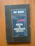 n1 Eseuri si foiletoane critice -  Ion Biberi