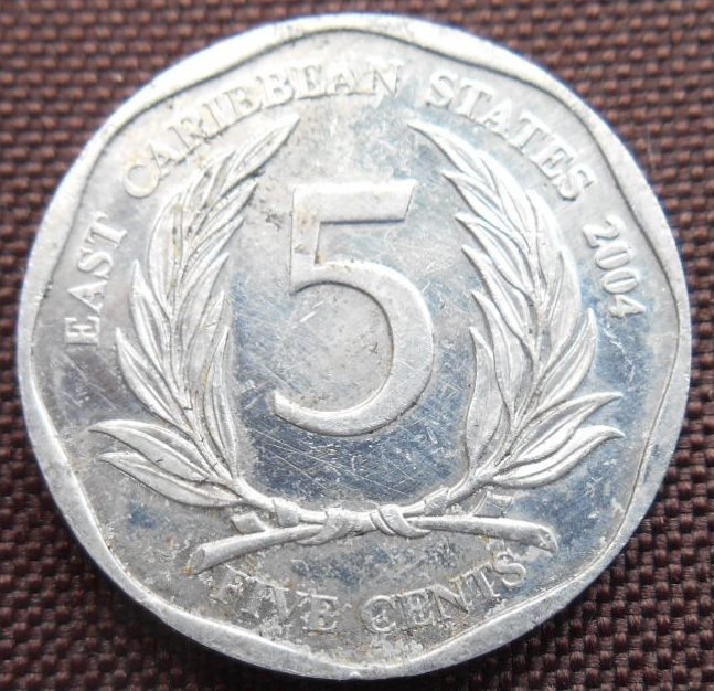 CARAIBE (EAST CARIBBEAN  STATES )5 CENTS 2004KM 36