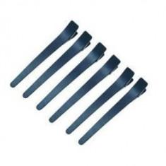 Clipsuri negre din plastic pentru par - set 12 bucati