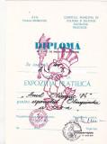 Bnk fil Diploma Expozitia filatelica Anul olimpic 84 Targoviste