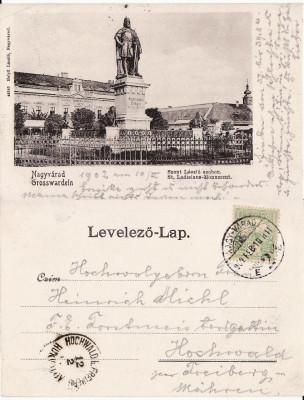 Oradea -Statuia Sf. Ladislau- clasica foto