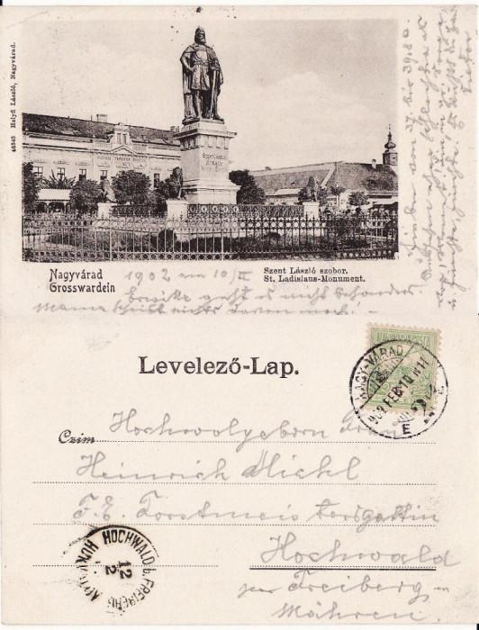 Oradea -Statuia Sf. Ladislau- clasica