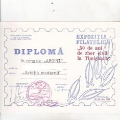 Bnk fil Diploma Expo fil 50 de ani de zbor civil Timisoara 1985