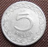 UNGARIA 5 FILLER 1959 KM 549, Europa, Aluminiu
