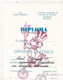Bnk fil Diploma Expozitia filatelica Anul olimpic 84 Targoviste (2)