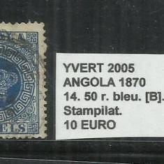 ANGOLA 1870 - 14. 50 R., Stampilat