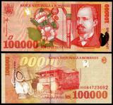 100000 LEI 1998 UNC NECIRCULATA DIN FISIC
