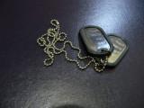 Medalion Dog Tag Dublu cu rama silicon  INOX. DOGTAG Pandativ. Sigilat