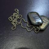 Medalion Dog Tag Dublu cu rama silicon INOX. DOGTAG Pandativ. Sigilat - Pandantiv inox