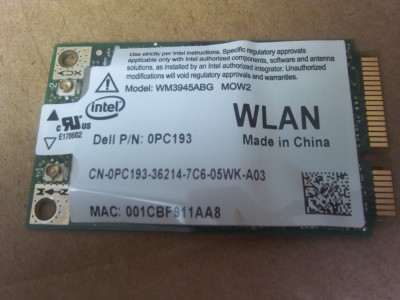 WIFI dell xps m1330 pp25l 0pc193 Latitude D820 d531 d830 Precision M65 M4300 foto