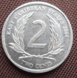 CARAIBE (EAST CARIBBEAN  STATES )2 CENTS 2004KM 35