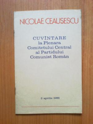 d10 Cuvantare la Plenara Comitetului Central al Partidului comunist - Ceausescu foto