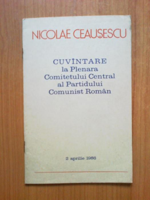 d10 Cuvantare la Plenara Comitetului Central al Partidului comunist - Ceausescu