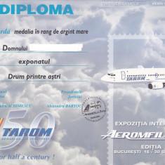 Bnk fil Diploma Expozitia filatelica Aeromfila 2004 Bucuresti