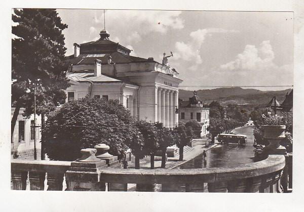 bnk cp Carte postala QSL YO7BPC 1983 Ramnicu Valcea - B-dul Tudor Vladimirescu foto mare