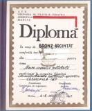 bnk fil Diploma Expozitia filatelica Cosmofila 1987 Medias
