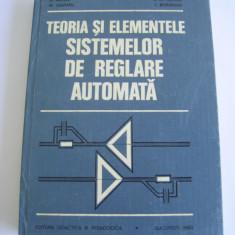 TEORIA SI ELEMENTELE SISTEMELOR DE REGLARE AUTOMATA - - D.Mihoc - Carti Mecanica