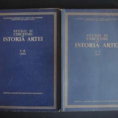 STUDII SI CERCETARI DE ISTORIA ARTEI volumele 1-2 si 3-4 anul 1954 - Carte Istoria artei