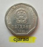 Moneda 1 Yi Jiao - China 1992 (*cod 707) Allu-a.UNC, Asia, Aluminiu
