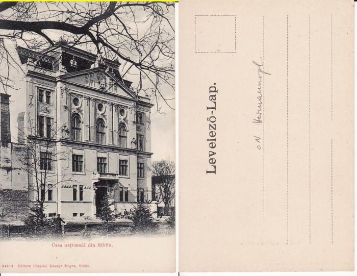 Sibiu, Hermannstadt - Casa Nationala-  Rara, clasica foto mare