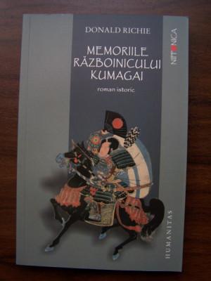 Memoriile razboinicului Kumagai - Donald Richie (Humanitas, 2009) foto