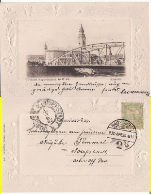 Oradea -Podul, clasica,embosata foto