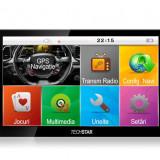 "GPS Auto 7"" TECHSTAR Premium NAVIGATIE Auto Taxi Tir Camion IGO Full EU+RO 12GB, 7 inch, Toata Europa, Lifetime, Car Sat Nav, peste 32 canale"