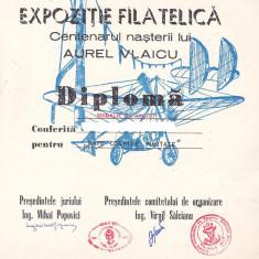 Bnk fil Diploma Expfil Centenar nastere A Vlaicu Deveselu 1982