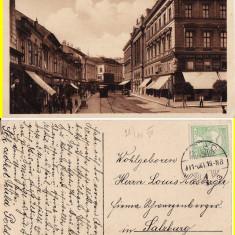 Arad -animata, tramvai- rara - Carte Postala Banat pana la 1904, Circulata, Printata