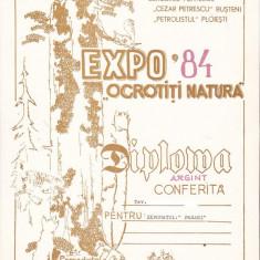 Bnk fil Diploma Expofil Expo 84 Ocrotiti natura Busteni