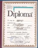 bnk fil Diploma Expozitia filatelica Cosmofila 1985 Medias