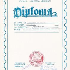 Bnk fil Diploma Expozitia filatelica Mehedinti 84 Drobeta Turnu Severin