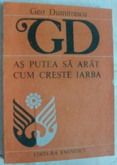 GEO DUMITRESCU-AS PUTEA SA ARAT CUM CRESTE IARBA:VERSURI 1989/pref. EUGEN SIMION foto mare