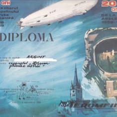 Bnk fil Diploma Expozitia filatelica Aeromfila 89 Sibiu