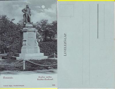 Timisoara - Statuia Scudier- clasica, rara foto