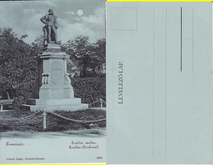 Timisoara - Statuia Scudier- clasica, rara foto mare
