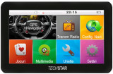 """GPS Techstar Basic NAVIGATIE Auto TaxiTir Camion 4.3"""" 845Mz 12GB IGO Full EU+RO, 4,3, Toata Europa, Lifetime"""