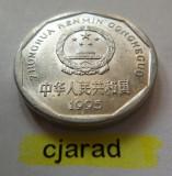 Moneda 1 Yi Jiao - China 1995 (*cod 708) Allu-a.UNC, Asia, Aluminiu